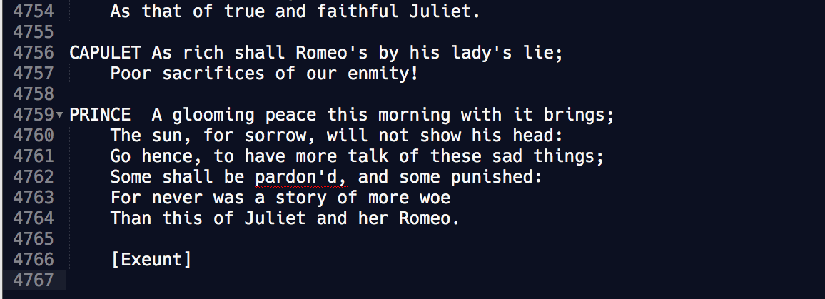 the last line of romeo and juliet